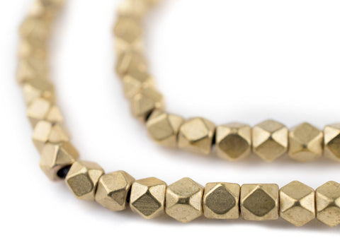 Brass Diamond Cut Beads (4mm) - The Bead Chest