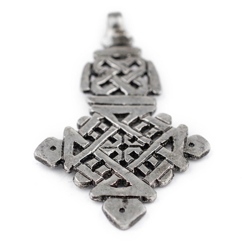 Awash Silver Ethiopian Coptic Cross Pendant (40x65mm) - The Bead Chest