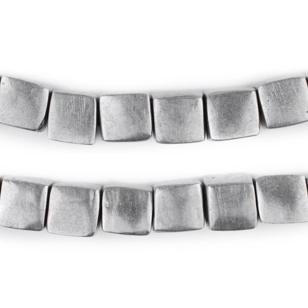 Mursi-Style Aluminum Cube Beads (10mm) - The Bead Chest