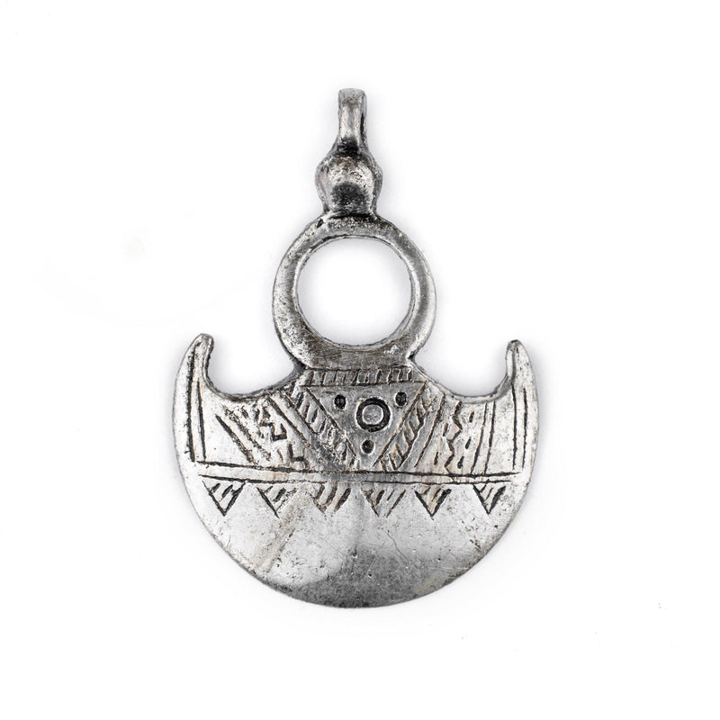Tuareg Moon Pendant (Medium) - The Bead Chest