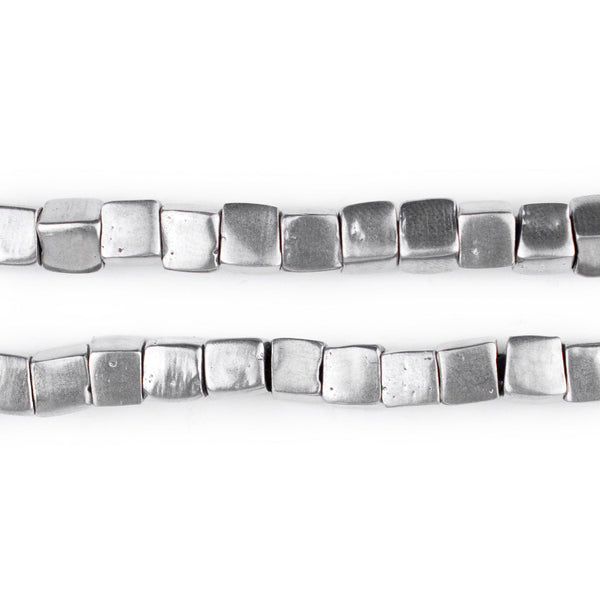 Mursi-Style Aluminum Cube Beads (6mm) - The Bead Chest