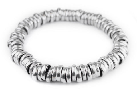 Aluminum Mursi Ring Beads (24mm) - The Bead Chest