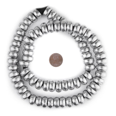 Aluminum Mursi Rondelle Ring Beads (16mm) - The Bead Chest