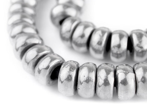 Image of Aluminum Mursi Rondelle Ring Beads (16mm) - The Bead Chest