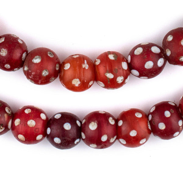 Premium Red Venetian Skunk Eye Beads (12mm)