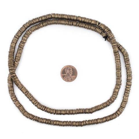 Brass Flat Disk Heishi Beads (6mm) - The Bead Chest