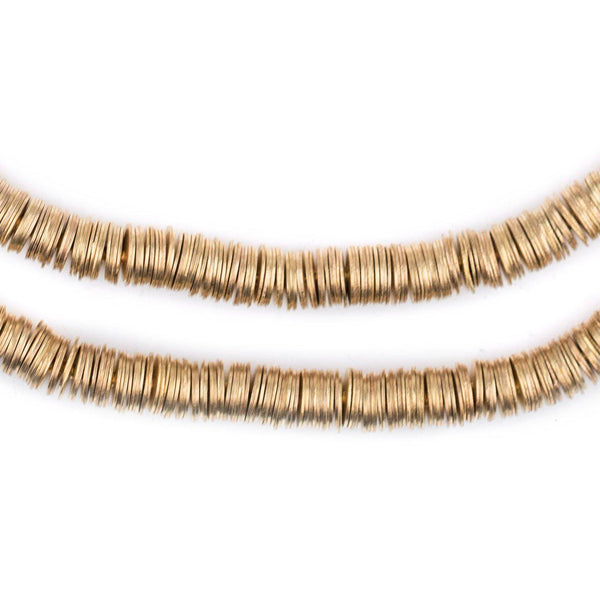 Gold Flat Disk Heishi Beads (6mm) - The Bead Chest