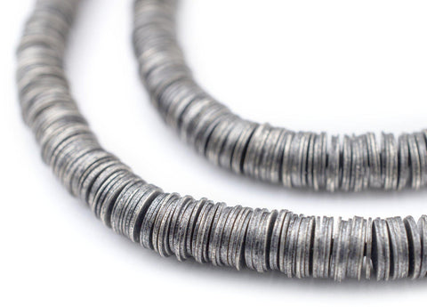 Image of Antique Silver Interlocking Crisp Beads (6mm) - The Bead Chest