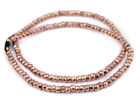 Copper Mursi Ring Beads (8mm) - The Bead Chest