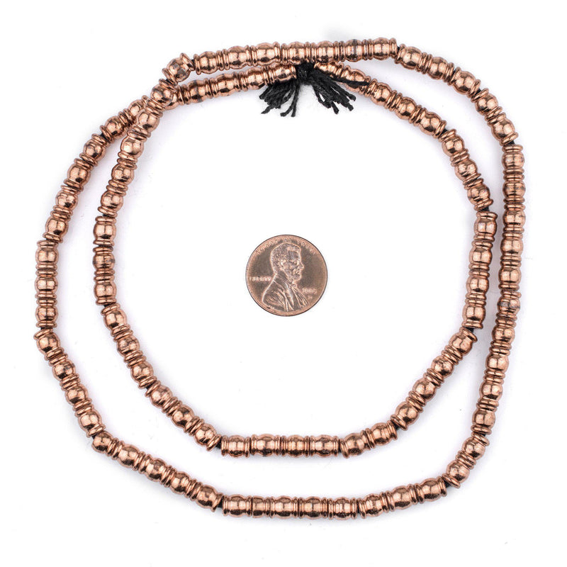 Copper Beveled Barrel Beads (7x5mm) - The Bead Chest
