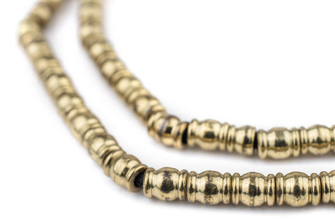 Brass Beveled Barrel Beads - The Bead Chest