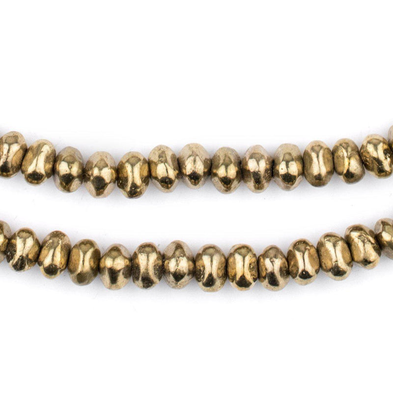 Brass Nugget Beads (5x7mm) - The Bead Chest
