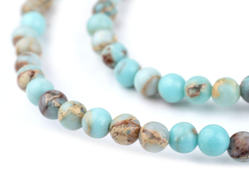 Turquoise Sea Sediment Jasper Beads (4mm) - The Bead Chest