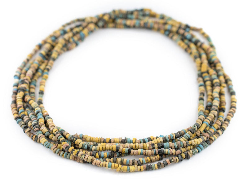 Yellow Pharaonic Pottery Beads - The Bead Chest
