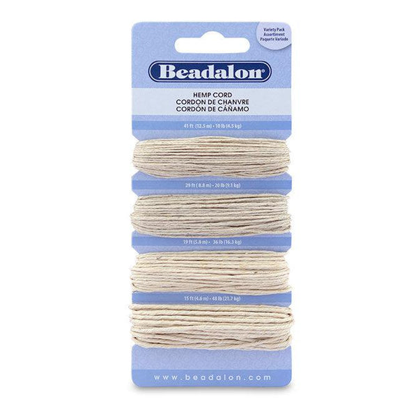 Hemp Cord Variety Pack (100ft) - The Bead Chest