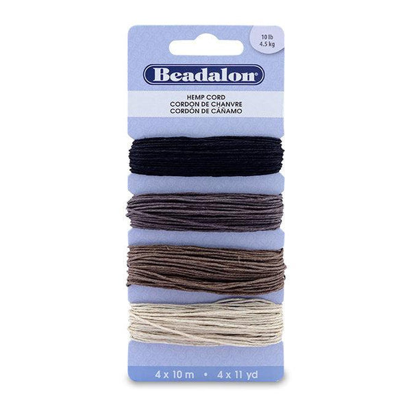 Hemp Cord Variety Pack (130ft) - The Bead Chest