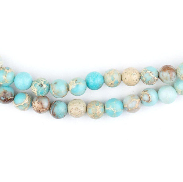 Turquoise Sea Sediment Jasper Beads (6mm) - The Bead Chest
