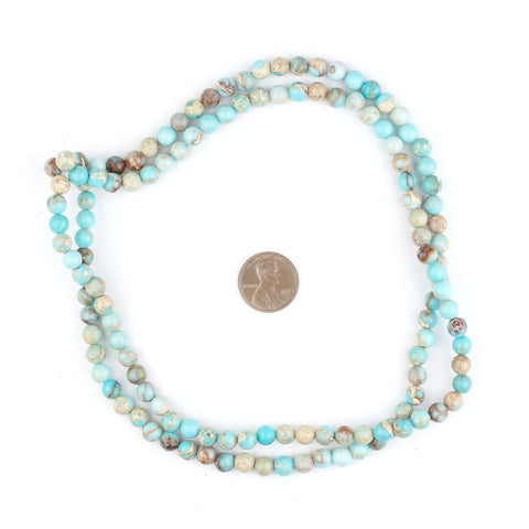 Image of Turquoise Sea Sediment Jasper Beads (6mm) - The Bead Chest