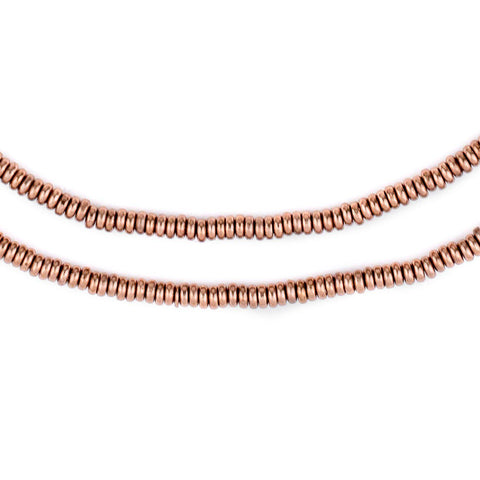 Copper Smooth Heishi Beads (3mm) - The Bead Chest