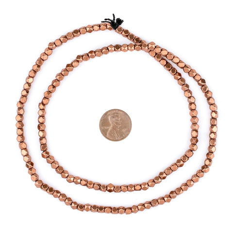 Image of Diamond Cut Faceted Copper Beads (4mm) - The Bead Chest