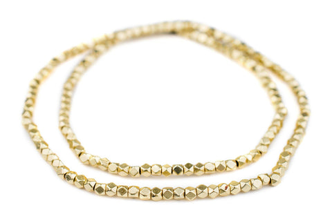 Gold Diamond Cut Beads (4mm) - The Bead Chest