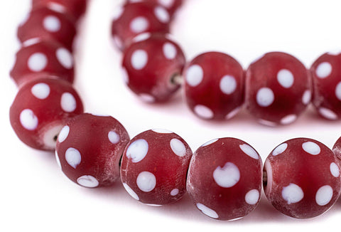 Image of Red Venetian-Style Skunk Beads (14mm)