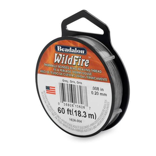 Wildfire Thread 0.20mm Grey (60ft)