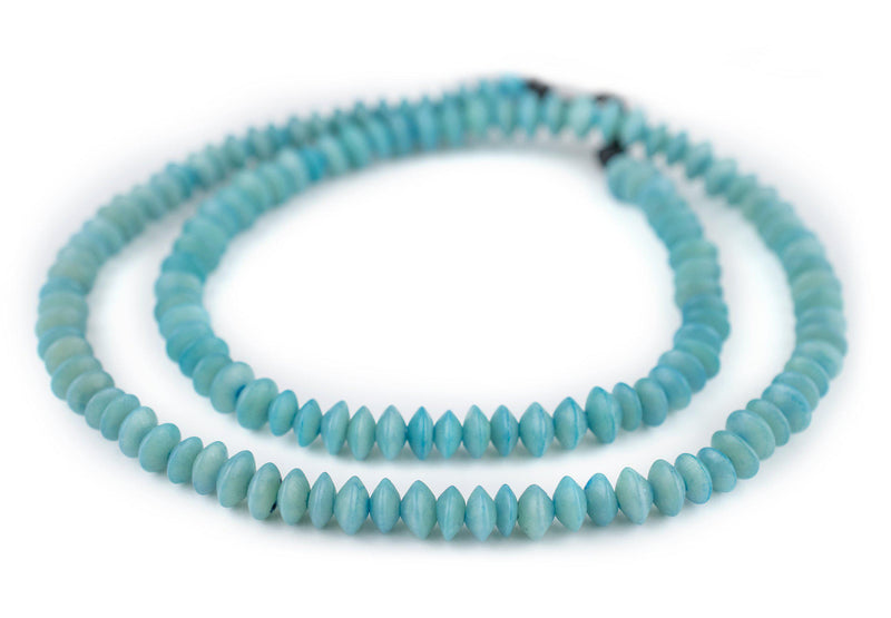 Teal Natural Saucer Seed Beads (8mm)