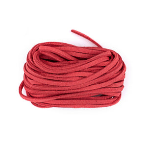 3mm Flat Red Faux Suede Cord (15ft)
