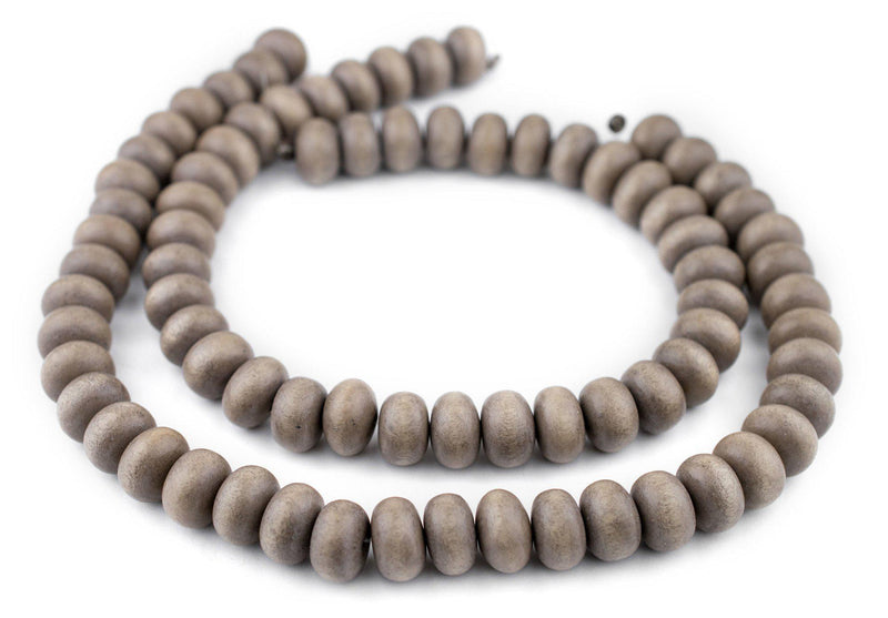 Brown Abacus Natural Wood Beads (10x15mm) - The Bead Chest