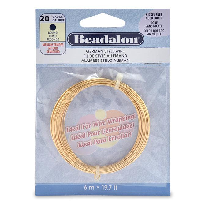 20 Gauge Round Gold Color German Style Wire (19.7ft) - The Bead Chest