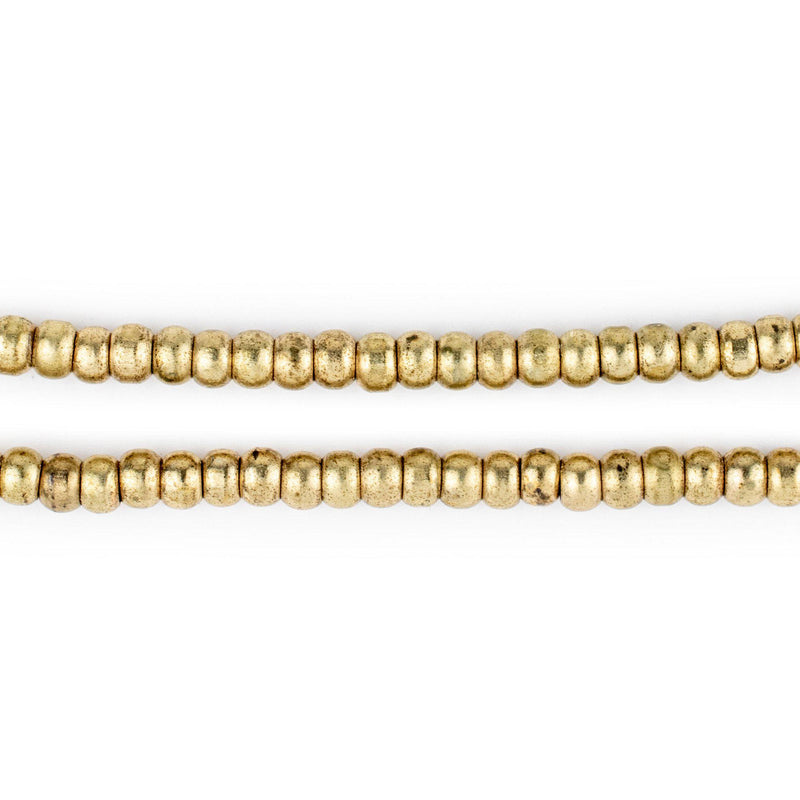 Brass Rondelle Beads (4mm)