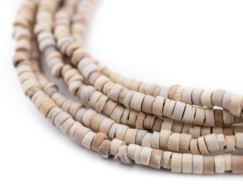 White Pharaonic Pottery Beads - The Bead Chest