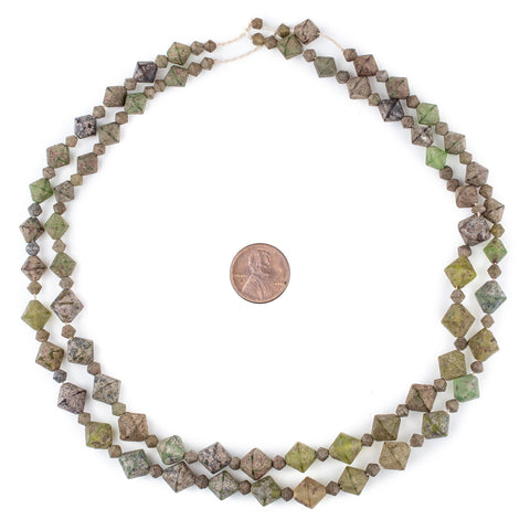 Ancient Style Bicone Glass Beads - The Bead Chest