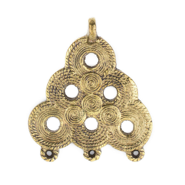 Brass Baule Beehive Connector Pendant (54x47mm) - The Bead Chest