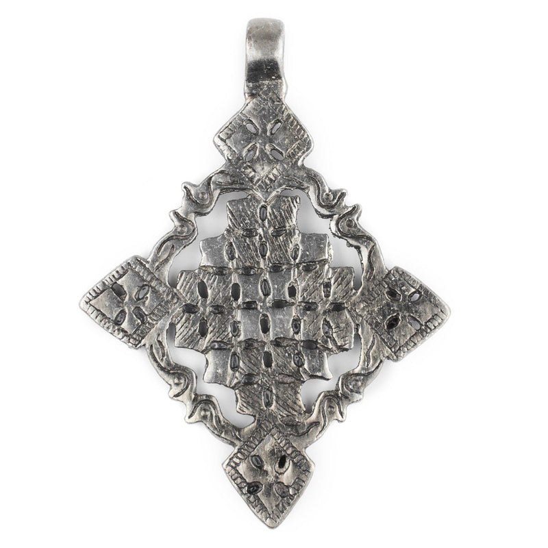 Ziway Silver Coptic Cross Pendant (55x75mm) - The Bead Chest