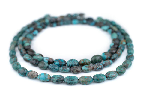 Oval Turquoise Stone Beads (12x10mm) - The Bead Chest