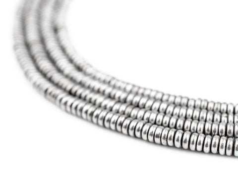 Image of Smooth Silver Heishi Beads (3mm) - The Bead Chest