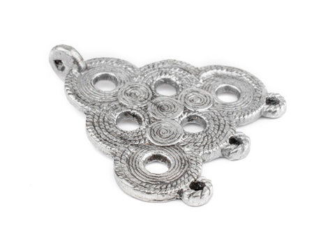 Image of Silver Baule Beehive Connector Pendant (54x47mm) - The Bead Chest