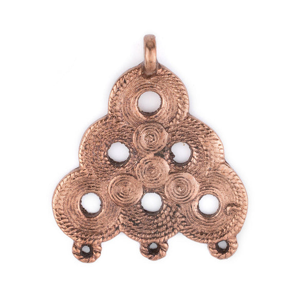 Copper Baule Beehive Connector Pendant (54x47mm) - The Bead Chest