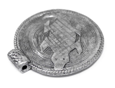 Image of Silver Lizard Baule Bead Pendant (58x52mm) - The Bead Chest