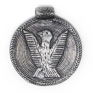 Silver Bird Baule Bead Pendant (58x52mm) - The Bead Chest