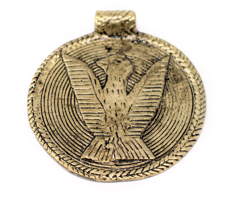 Brass Bird Baule Bead Pendant (58x52mm) - The Bead Chest