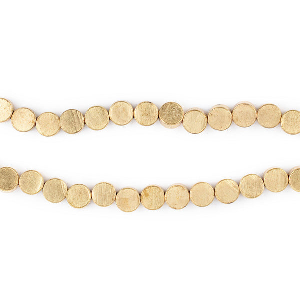 Circular Disk Brass Beads (5mm)