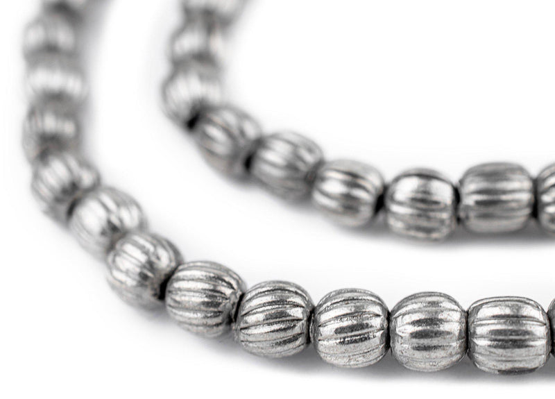 Silver Melon Beads (6mm)
