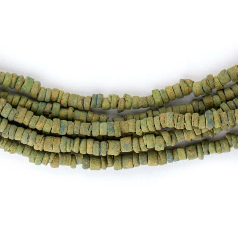 Green Pharaonic Pottery Beads - The Bead Chest