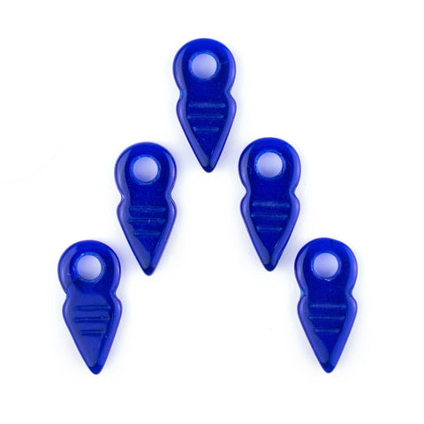 Image of Cobalt Blue Talhakimt Pendants (Set of 5) - The Bead Chest