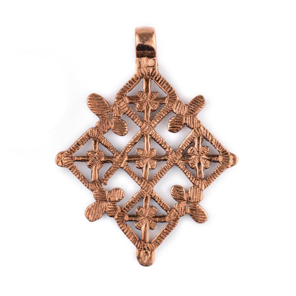 Metu Copper Coptic Cross Pendant (53x70mm) - The Bead Chest