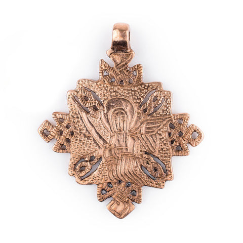 Turmi Copper Coptic Cross Pendant (55x65mm) - The Bead Chest