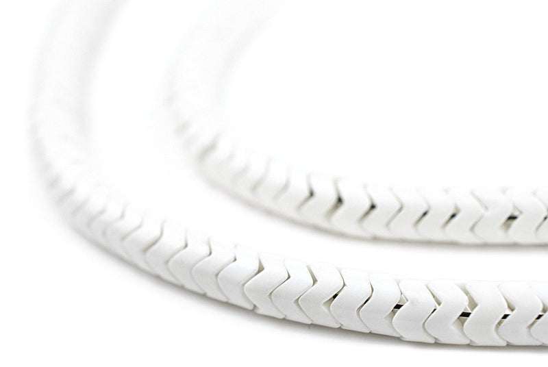 White Agate Interlocking Snake Beads (6mm)
